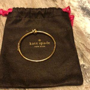Knot bracelet. Gold Kate ♠️ Spade. Never worn. EUC